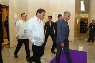 Duterte, Mahathir reaffirm PH-Malaysia ties