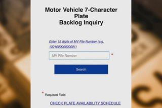 Status ng mga naantalang plaka, maaaring tingnan sa LTO website