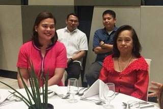 Arroyo, Mayor Sara magkasama sa 'thank-you' lunch