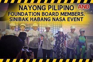 Nayong Pilipino Foundation board members, sinibak habang nasa event