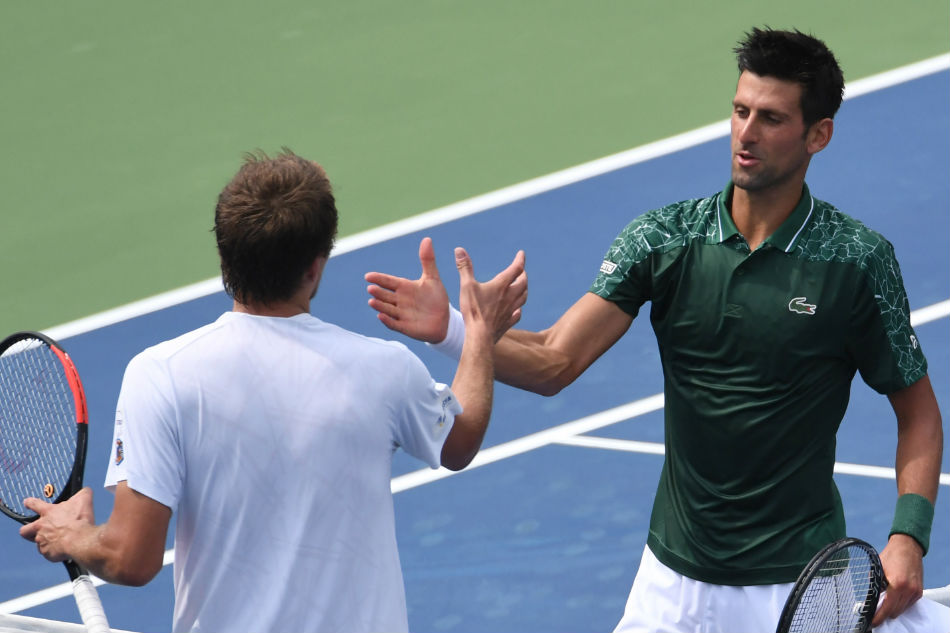Novak Djokovic 'grabbed like a bulldog' by Stefanos Tsitsipas in Rogers Cup