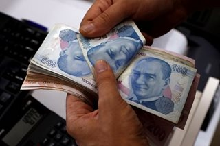 Asia shares, euro pressured by Turkish crisis