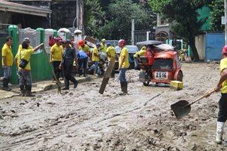 TINGNAN: Clean-up drive sa binahang Provident Village, umarangkada na