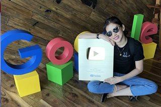 LOOK: Alex Gonzaga gets gold award from YouTube