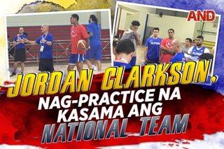 Jordan Clarkson, nag-practice na kasama ang national team