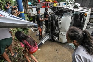 Antipolo multiple-vehicle collision