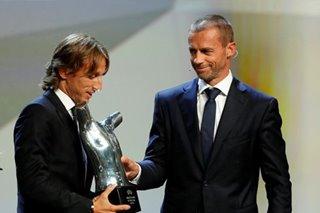 Football: Luka Modric named UEFA player of year