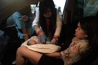 Rush-hour delivery: Mom gives birth after being stuck in EDSA traffic