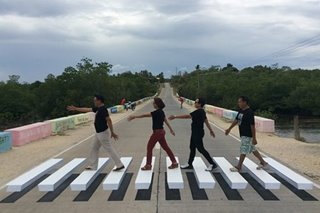 LOOK: Bohol town's very own 3D Abbey Road