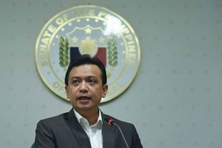 Trillanes in Davao to face libel raps, pleads not guilty