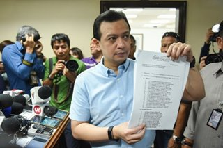 Trillanes: Arrest will be military 'gift' to Duterte