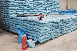 Bodega ng umano'y smuggled rice mula Tsina, ni-raid
