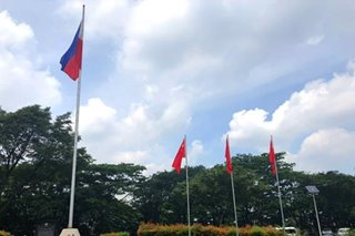 China flags fly in Batasan as Arroyo meets with Chinese officials