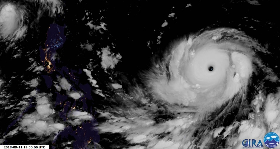 LOOK: Super Typhoon Mangkhut, Philippines seen at night 1