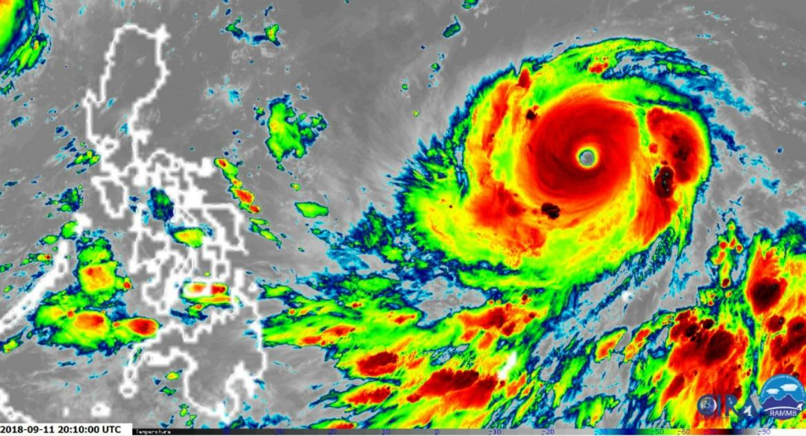 LOOK: Super Typhoon Mangkhut, Philippines seen at night 2