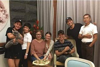 LOOK: Carlo Aquino brings parents along as he visits Angelica's home