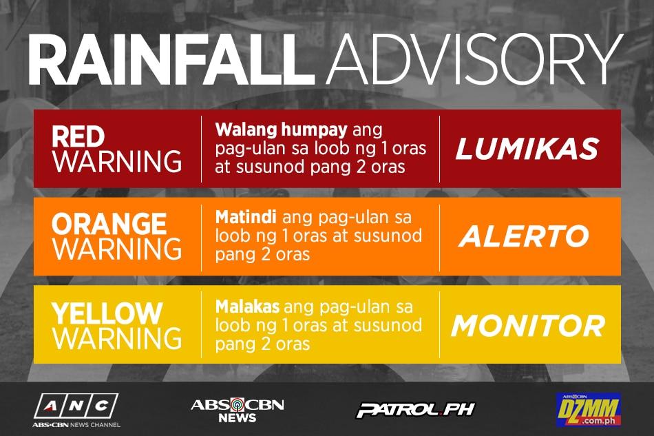 Red-level rainfall alert up in Zambales, Bataan 1