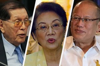 Enrile criticizes Cory; son Noy hits back