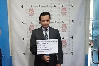 LOOK: Trillanes poses for mugshots