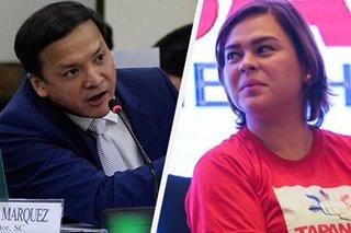 Sara Duterte inalmahan ang nominasyon ni Midas Marquez bilang SC justice