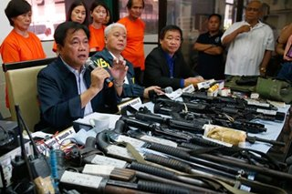 NBI seizes illegal firearms and explosives