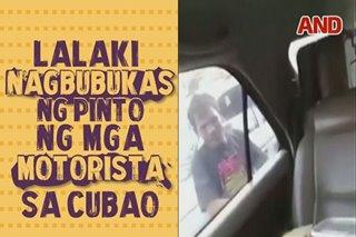 Lalaki, nagbubukas ng pinto ng mga motorista sa Cubao