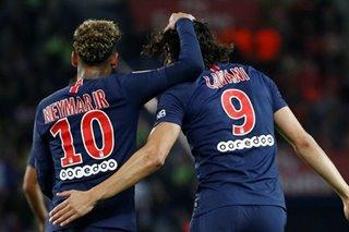 Cavani, Neymar on same wavelength as PSG target eighth straight win