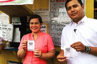 Sara Duterte places bet on UltraLotto, says she'll share winnings with Trillanes