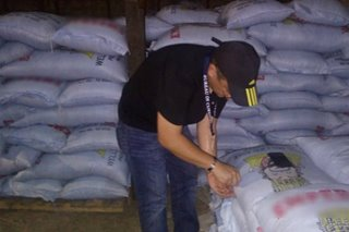 Mga bodega sa Zamboanga City na may smuggled rice, ininspeksiyon na