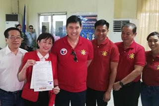Vilma Santos seeks re-election as Batangas representative