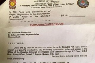 CIDG investigates LGUs for alleged misuse of funds