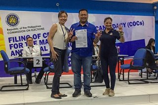 JV Ejercito files COC for Senate re-election
