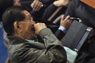 Enrile, 94, banks on social media for Senate bid