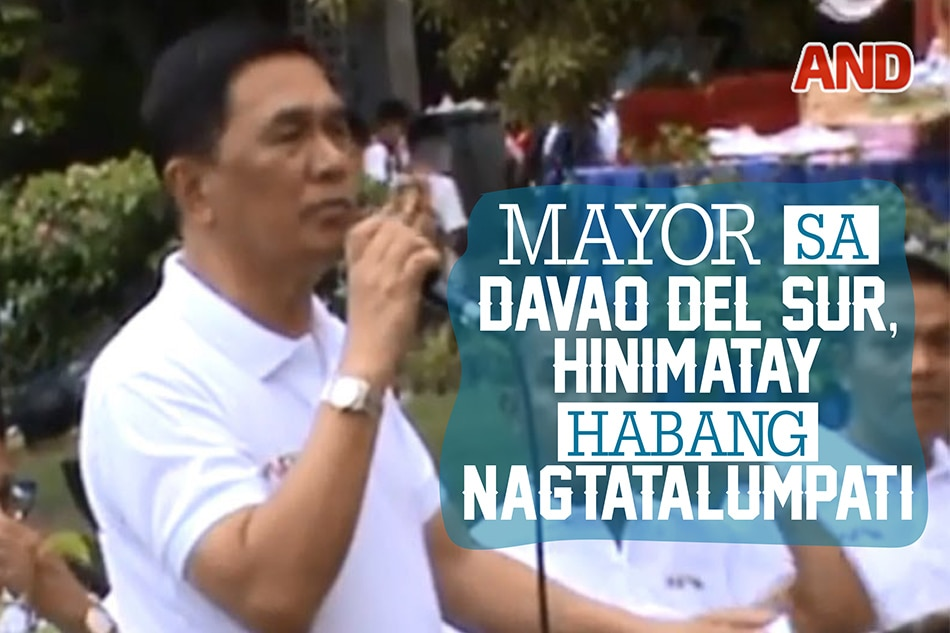 Mayor sa Davao del Sur, hinimatay habang nagtatalumpati