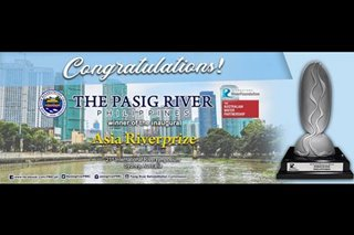 'Instagrammable?' Restored Pasig River wins international environment award