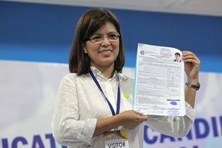 Wife Lani files Bong Revilla's COC for senatorial bid