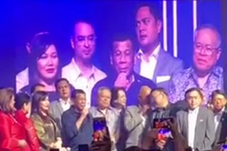 WATCH: Duterte and Cabinet sing at benefit concert