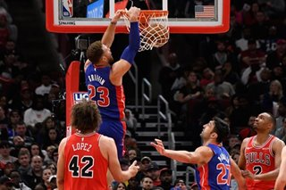 NBA: Griffin's career game lifts Pistons over Sixers in OT