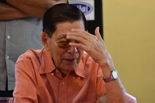 Enrile says martial law now 'history'; apologizes to abuse victims 'if there were'