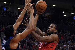 Leonard, Raptors top Wolves, improve to 5-0