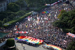 Massive Taiwan Gay Pride parade pushes key referendum vote