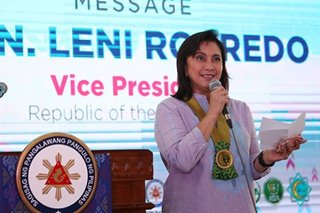 Despite 2-point decline, Robredo gets 'good' trust rating: SWS