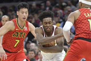 Cavs blow out Hawks for first win of season