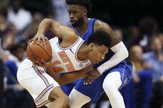 NBA: Undrafted rookie sparks Knicks to 1st road win