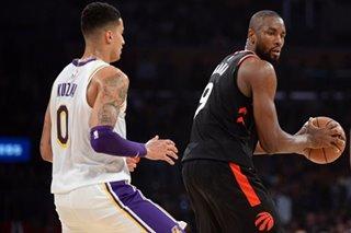 NBA: Ibaka drops 34 as Raptors pound Lakers