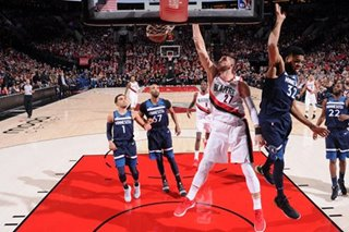NBA: Nurkic notches double-double as Trail Blazers pound Timberwolves