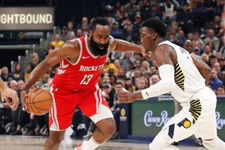 Harden's 28 points lead Rockets past Pacers