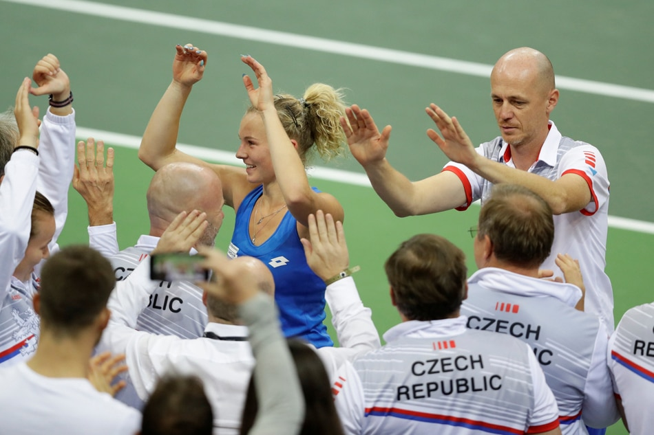 Strycova beats Kenin as Czechs lead U.S.  in Fed Cup final