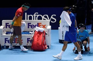 Federer crashes to Nishikori in ATP Finals opener