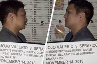Road rage suspect with 'No. 8' plate falls